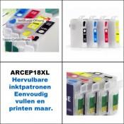 ARCEP18XL Hervulbare inktcartridges voor Epson 18XL