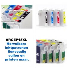 ARCEP18XL Hervulbare inktcartridges voor Epson 18XL..
