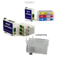 HIP-1291 Set hervulbare inktpatronen voor Epson T1291 tm T1294..