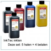 INK520Set-5x250ml 5 halen 4 betalen  5 flessen inkt van 250ml