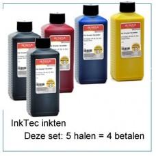 INK520Set-5x250ml 5 halen 4 betalen  5 flessen inkt van 250ml..